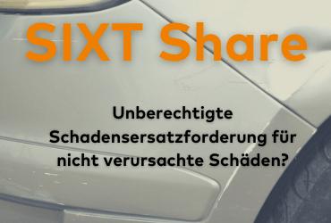 Sixt Share Schadenersatz