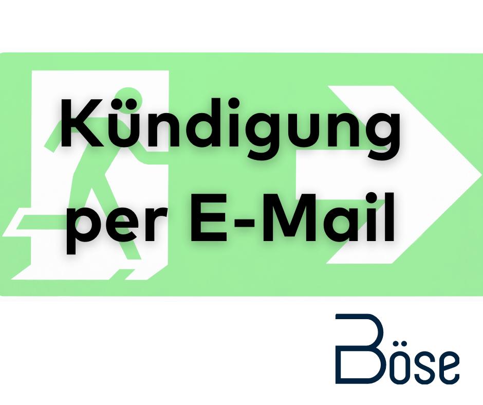 Kuendigung per Email