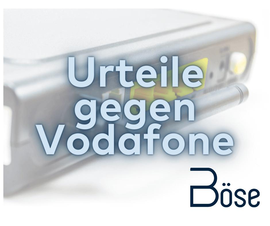 Urteil Vodafone Router Entschaedigung