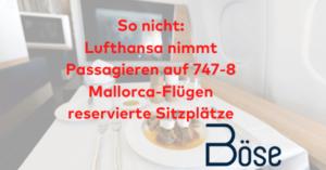 Sitzplatz 747 Mallorca Lufthansa
