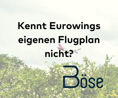 Kennt Eurowings eigenen Flugplan nicht