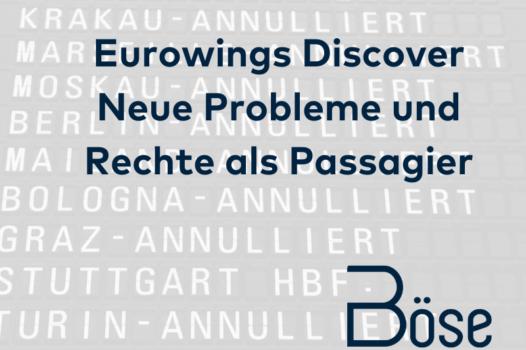 Eurowings Discover Passagierrechte