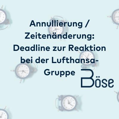 Frist Umbuchung Lufthansa Gruppe